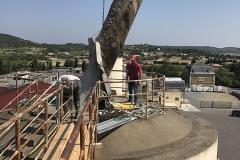 sortie bloc béton extraite du silo