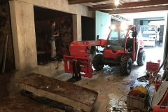 nettoyage du chantier après découpe béton