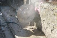 sciage mur en pierre