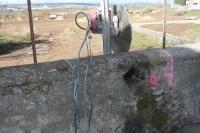 découpe d'un mur en pierre